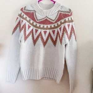 NWT Theory Ivory Cable Sweater